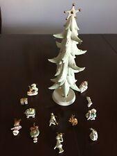 Lenox How The Grinch Stole Christmas Porcelain Tree & 12 Ornaments