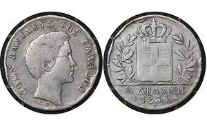 ½ Drachma 1834 // Kingdom of Greece 🇬🇷  Silver Coin // King Otto # 19