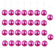 30 Spiegelkugeln Pink Weihnachtskugel Ø 5 cm Discokugel Christbaumschmuck Party