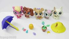lot of 5 Littlest Pet Shop LPS cat dog Pippa Ripplin Sam Splashman no box