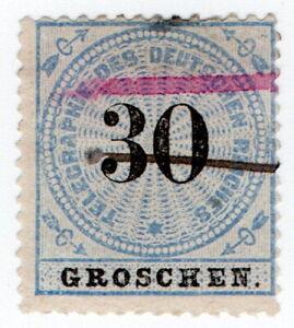 (I.B) Germany Telegraphs : 30gr Blue & Black