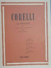 CORELLI - 12 Sonate op 5 per violino e pianoforte parte 1 - ed Ricordi