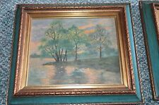 Antique Oil Paintings Circa 1940 Signed MBB  40  Lovely Scenes See 2 Paintings