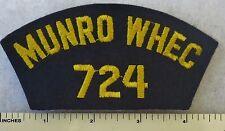 MUNRO WHEC 724 - US COAST GUARD CUTTER USCGC SHIP HAT / CAP PATCH (1971+)