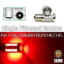 1156 BA15S 7506 P21W 12821 Red Rear Turn Signal Light SMD CANBUS LED M1 R