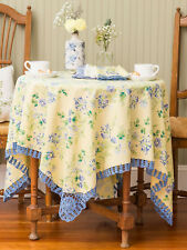 April Cornell Tablecloth Prairie Crochet Collection 36x36 NWT 100% Cotton Floral
