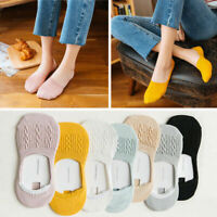 5 Pairs Womens Low Cut Cotton Socks No Show Loafer Boat Ballet Plain Footies