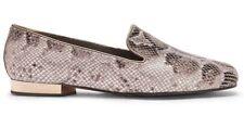 New DONALD PLINER Taupe Python HAZEL Flats Loafers 6 M $198 NIB