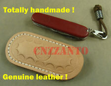 Vegetable tanned Real Leather Sheath Pocket / Folding Knife Multi Tool Pouch