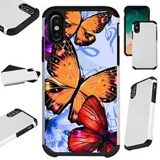Fusion Guard For iPhone 6/7/8 PLUS/X/XR/XS Max Phone Case ORANGE BUTTERFLY