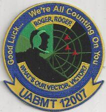 USAF Undergraduate air battle manager training (UABMT) 12007 PATCH         COLOR