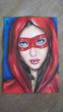 DYNAMIC FORCES VERONICA O'CONNELL ORIGINAL ART SKETCH CARD - LADY IN RED
