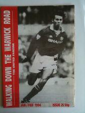 Walking Down the Warwick Road No 25 Manchester United Fanzine  Jan Feb 1994