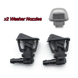 For Jeep Wrangler JK 13 2Pcs 68164356AB Front Windscreen Wiper Washer Jet Nozzle