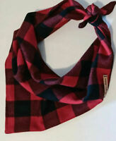 Tie-on buffalo plaid dog bandana by Juniper Leaves