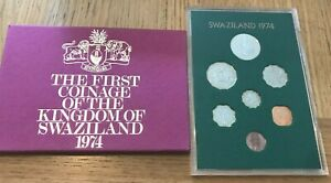 1974 SWAZILAND - OFFICIAL PROOF SET (7) - CENTS & LILANGENI - ROYAL MINT -BEAUTY