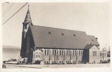 Église Sainte Amélie BAIE COMEAU Quebec 1940s ASN Real Photo Postcard 1655