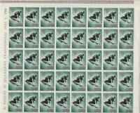 San Marino 1955 winter  olympics mnh  4 lira stamp sheet R19909