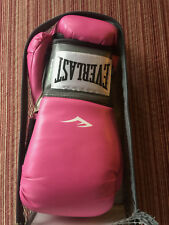 Ladies Boxing Gloves Everlast Womens Pro Style Training Pink Sport Mitts New Nib