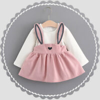 Toddler Baby Kids Girl Long Sleeve Casual Princess Tutu Dress Wedding Party Gown