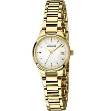 Accurist Ladies Gold Plated Bracelet Watch LB1467