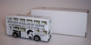"""""""MATCHBOX"""" **KENNEDY KILLED BY SNIPER** LONDON BUS PROMOTIONAL MINT BOXED"""