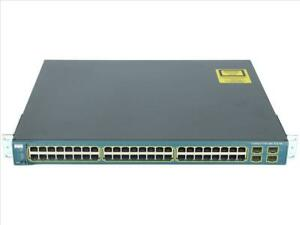 USED Cisco WS-C3560-48PS-E Switch 48 Port Fast Ethernet Base-TX PoE