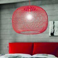 lampada a sospensione 1 Luce in metallo Ø60 regolabile colori personalizzabili