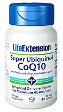 Life Extension Super Ubiquinol CoQ10 Enhanced Mitochondrial Support 50mg -30 Sg