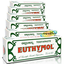 6x Euthymol Original Toothpaste Gum Teeth Cleans Tooth Paste Tube 75ml