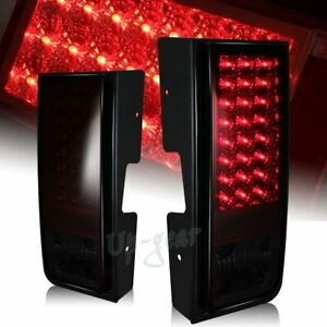 For 2003-2009 Hummer H2 Red/Smoke Lens LED Rear Brake Stop Tail Lights Lamps