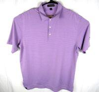 Peter Millar Summer Comfort Polo Shirt Mens XL Short Sleeve Purple Stripes Golf