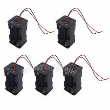 5 pcs 4 AA Double Side 1.5V Battery Cells Holder Storage Case Box Wired US Stock