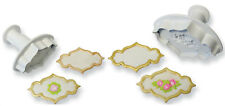 PME Small Icing Creative Cake Baking Sugarcraft Decoration Plaque Rose & Plain