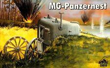 PANZERNEST WITH MG34 - MACHINE GUN PIL BOX (WW II GERMAN MOBILE BUNKER) 1/35 RPM