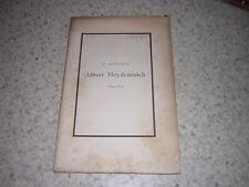 1898.plaquette obseques Albert Heydenreich.médecine Nancy