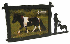 Miniature Horse 5x7H Black Metal Picture Frame