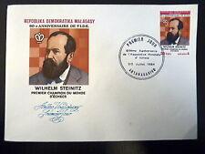 MADAGASCAR  716   PREMIER JOUR FDC       FIDE, ECHECS , STENITZ     20F     1984