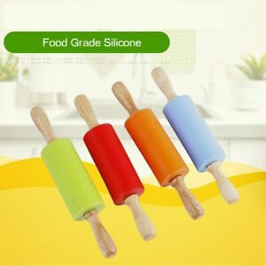 Non-stick Pastry Stick Baking Rolling Pin Small Size Dough Roller Silicone