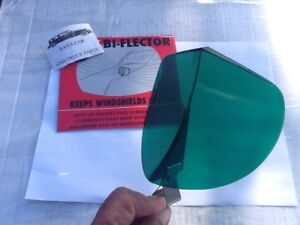 NEW VINTAGE STYLE GREEN WINDSHIELD BUG DEFLECTOR !
