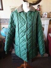 Vintage Harrods Quilted Green Mens Jacket