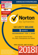 NORTON (Internet) SECURITY Deluxe 3.0 (2018) 5 Geräte 1 Jahr Deutsch Download