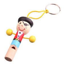 Cute Baby Kids Wooden Whistle Pirates Developmental Toy Children Musical Gift