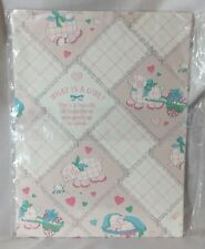 Vtg American Greetings It's a Girl! Pink Happiness Wrapping Paper 8.33 sq ft New