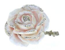 Ciel Collectible Romantic Rose Flower Bloom Trinket Box Austrian Crystals