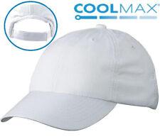 NEU Damen Herren Sommer Coolmax® Cap Kappe Baseballcap GOLF TENNIS SPORT weiß