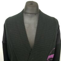 Retro Mens Vintage Funky Cardigan MEDIUM  Acrylic Wool Jumper Sweater Knit