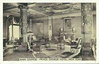 Prince George Hotel Interior View Lumitone 28th Street NYC 1941 Postcard