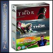THOR - 3 MOVIE COLLECTION - THOR, THE DARK WORLD & RAGNAROK   **BRAND NEW DVD**