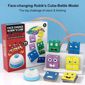 Geometric Cube Face-Changing Wooden Puzzle Building Cubes Interaction Toy Gifts